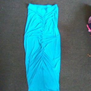 Charlotte Russe aqua blue long skirt